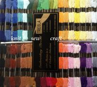 Embroidery Skeins Cross Stitch Threads Boxed Set Of 144 - Trebla