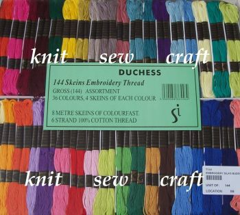 Embroidery Skeins Cross Stitch Threads Boxed Set Of 144 - Duchess