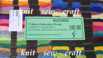 72 Duchess Embroidery Cross Stitch Skeins, Threads
