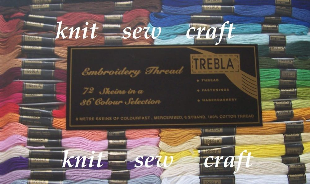 Cross Stitch Skeins Assorted Colour Threads Floss Embroidery Trebla