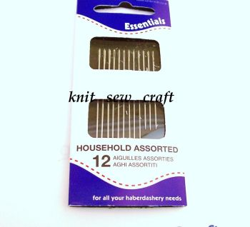 Hand Sewing Needles Whitecroft Pack of 12 Assorted Sizes