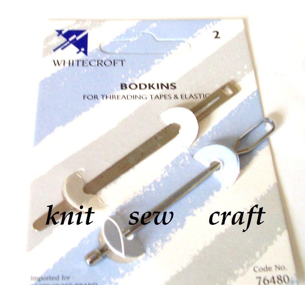 Whitecroft Bodkin Needle and Elastic Tape Threader
