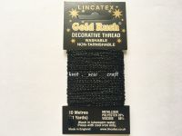 black metallic glitter sewing thread 10 metres Lincatex Gold Rush