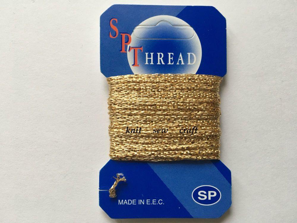 SP Glitz Decorative Glitter Thread Gold 10 Metres