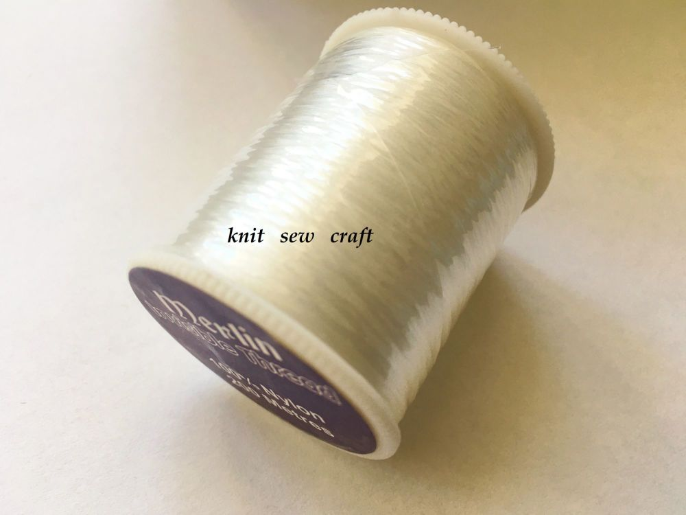 Invisible Sewing Thread 200 metres Reel CLEAR 100% Nylon Merlin