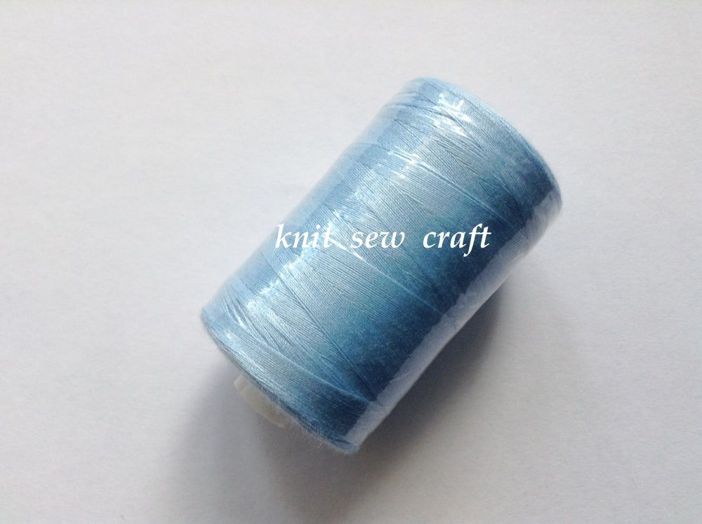 Sky Blue Sewing Thread 1000 Yards Spool 120s Polyester