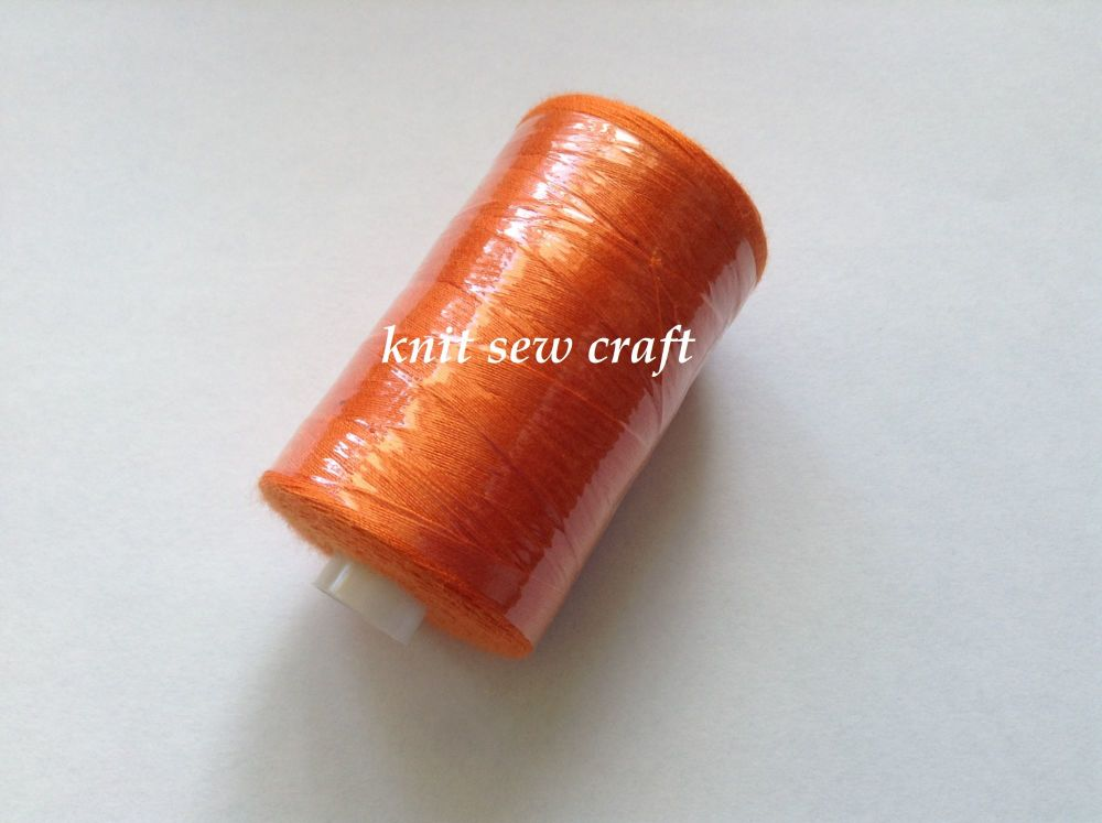 Orange Sewing Thread 1000 Yards Spool 120s Polyester