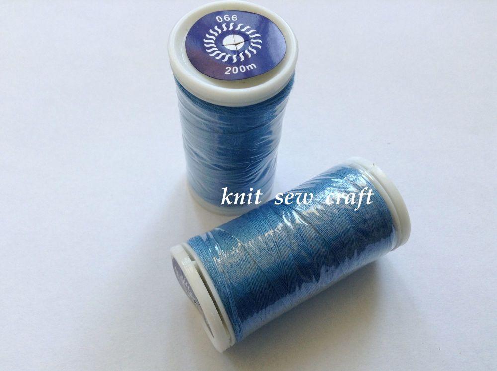 Sewing Thread Two Reels Blue 200 Metres per Reel