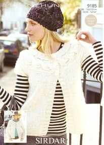 Sirdar Persia Chunky Knitting Pattern 9185 Cardigans