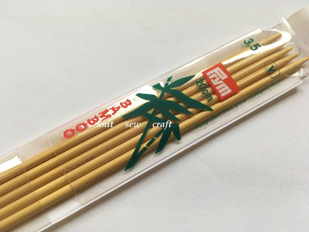 Prym Set of Five 3.5mm Bamboo Sock/Glove Knitting Needles