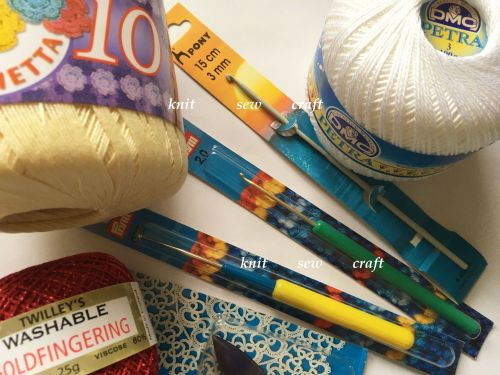 crochet hooks and thread