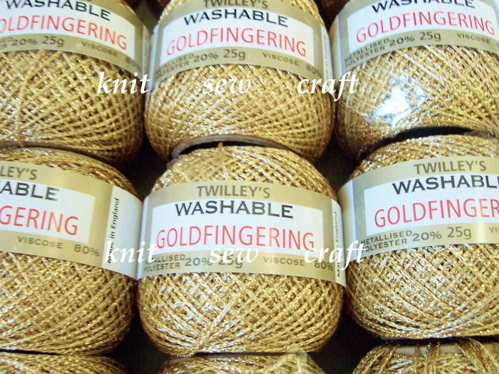 Metallic Goldfingering Thread - Twilleys Light Gold