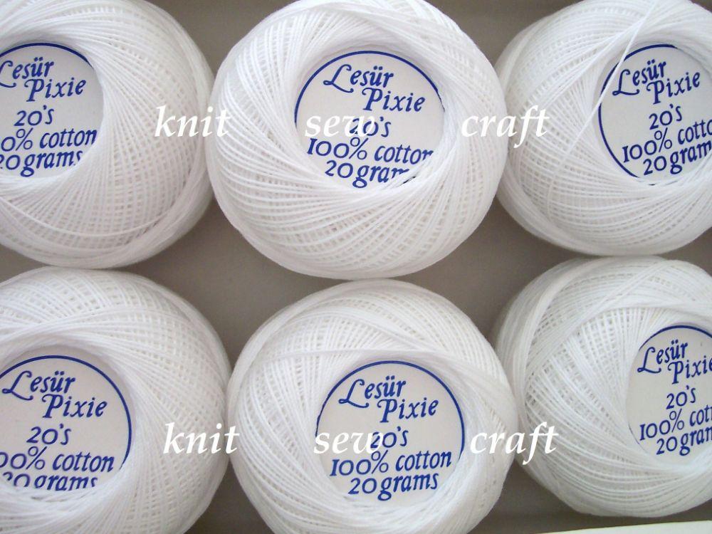 Lesur Pixie 20s Crochet Cotton