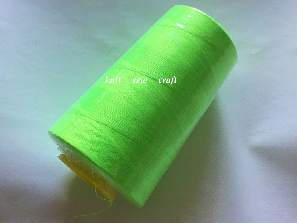 Fluorescent Lime Overlocker Sewing Machine Thread 5000 Yards
