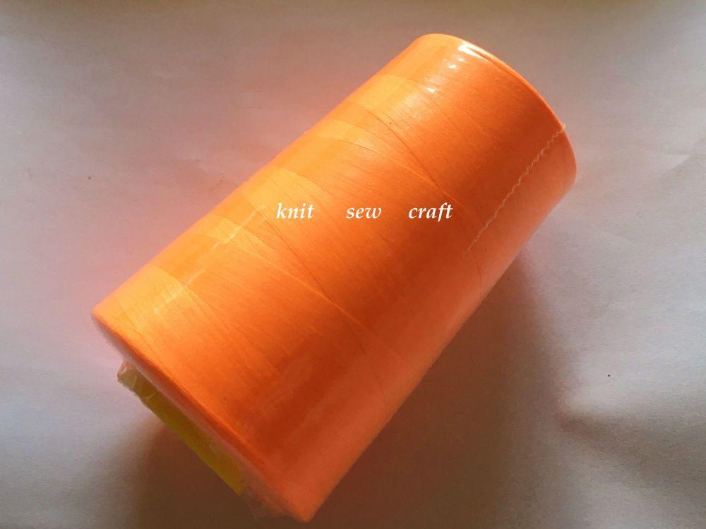Fluorescent Orange Sewing Thread 5000 Yards Overlocker