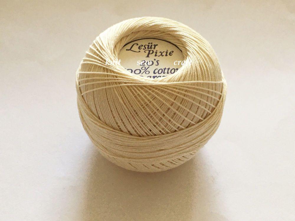 20s Crochet Cotton Ecru - Lesur Pixie