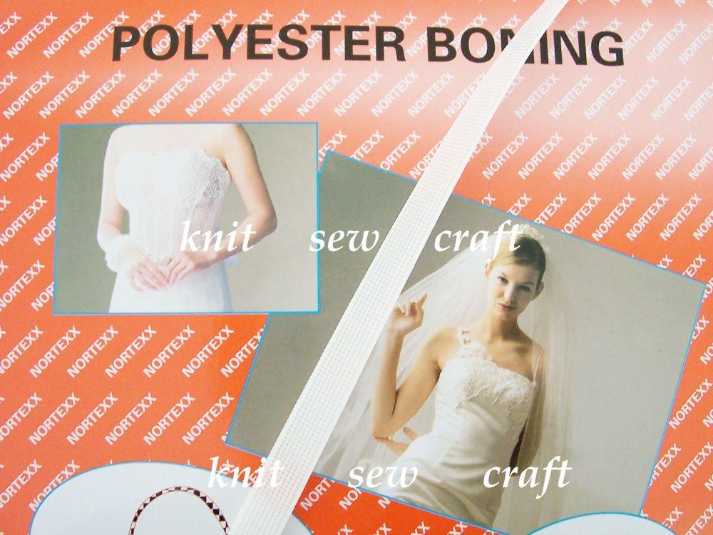 White Polyester Boning for Corsets Bridalwear