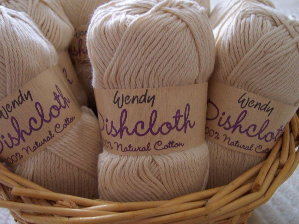 Wendy ecru dishcloth craft cotton 100% cotton 100g