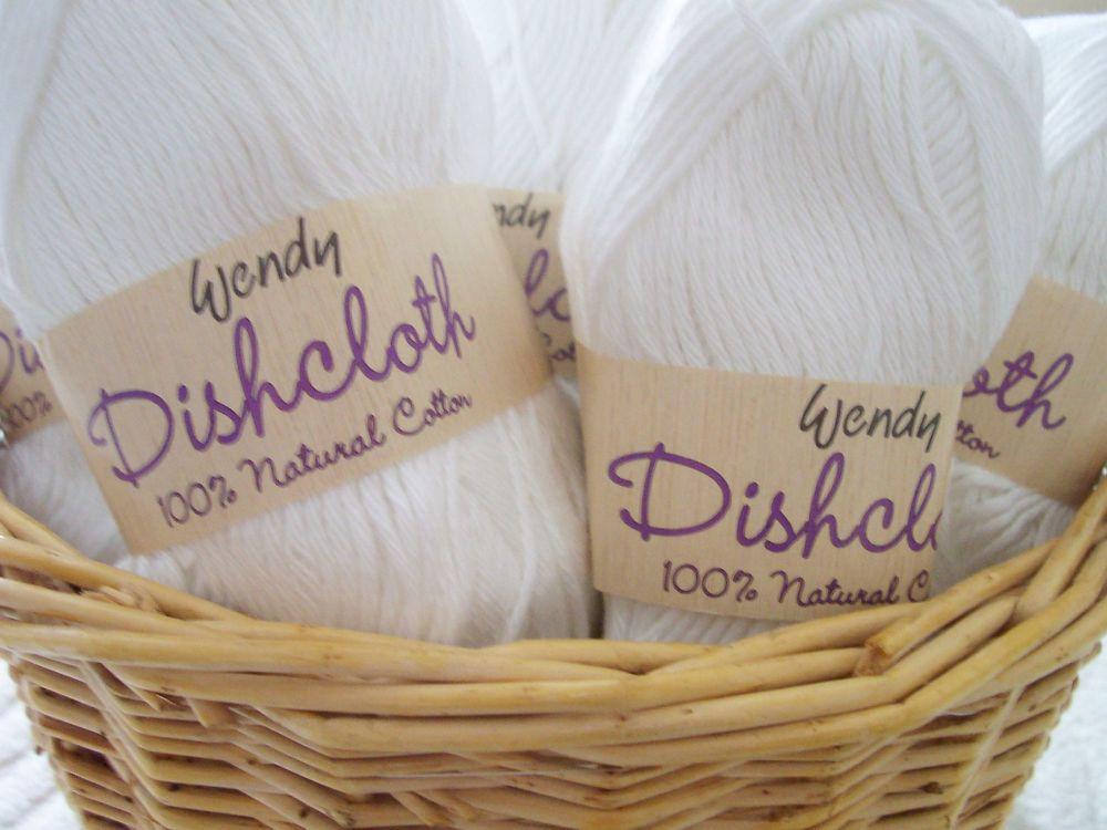 Wendy White Dishcloth Yarn 500g 100% Cotton