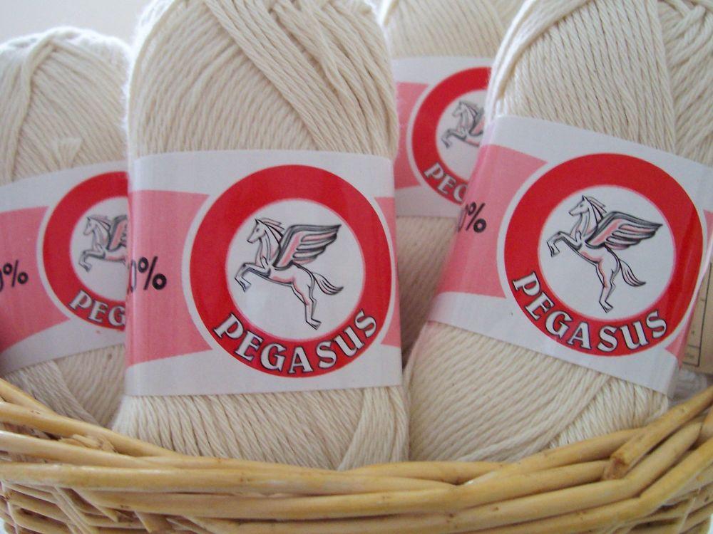 Pegasus Dishcloth Craft Cotton Ecru 100% Cotton