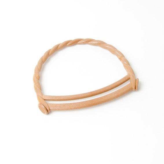 Wood Effect Curly Rope Design Bag Handles