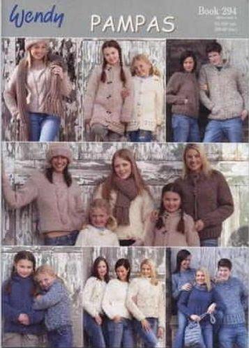 Wendy Pampas Knitting Patterns Book 294