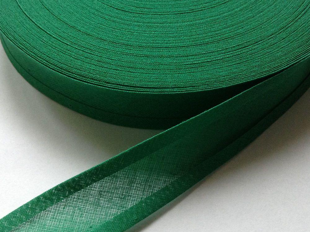 emerald green cotton bias binding