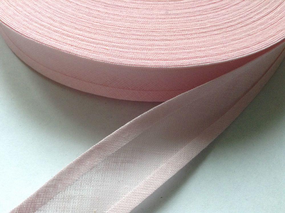 light pink bias binding tape 100% cotton fabric