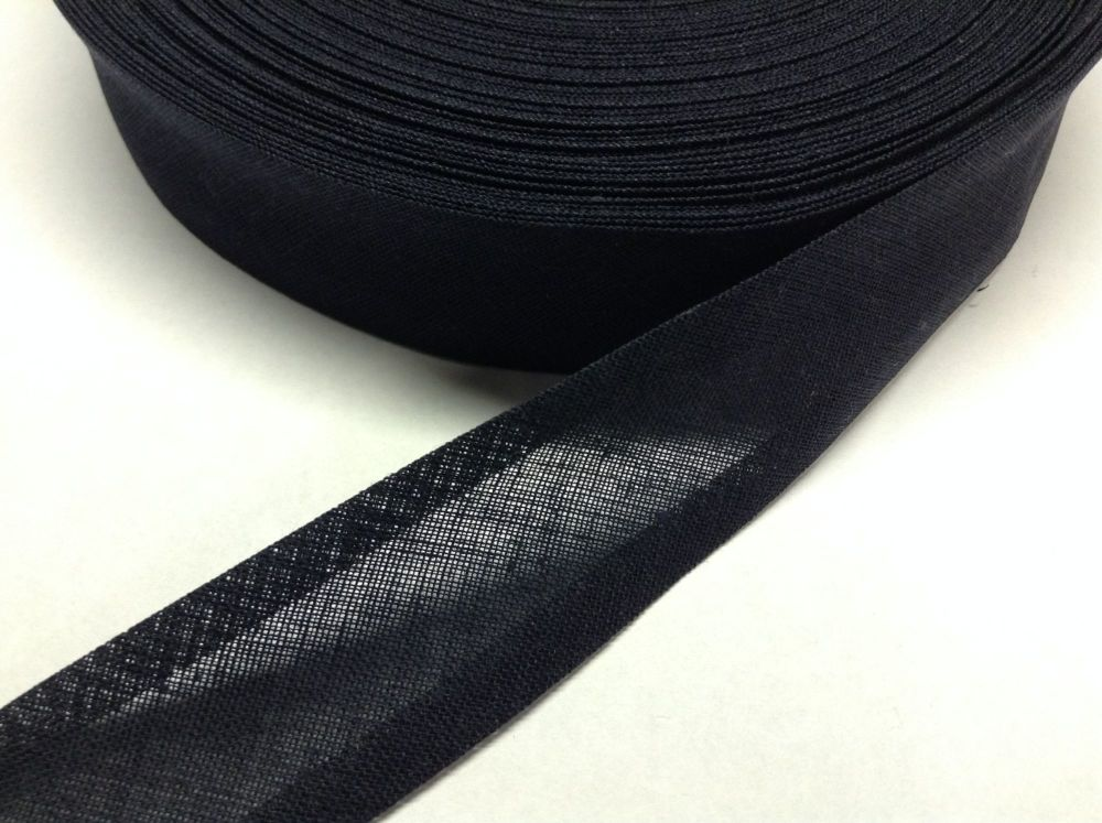 navy blue cotton bias binding