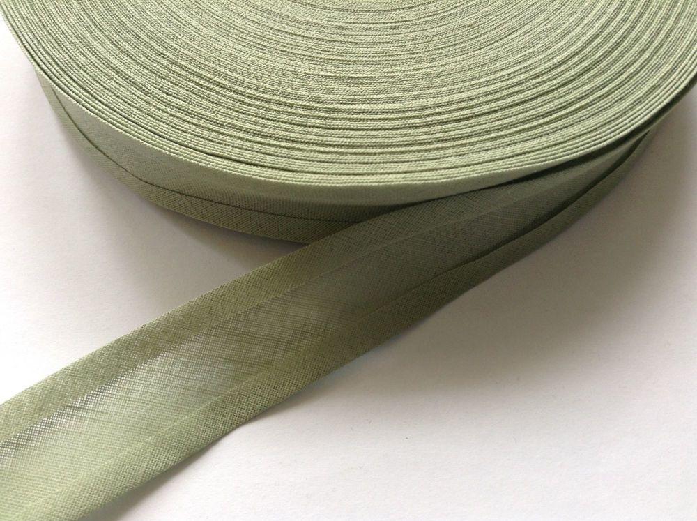 olive green cotton bias binding tape