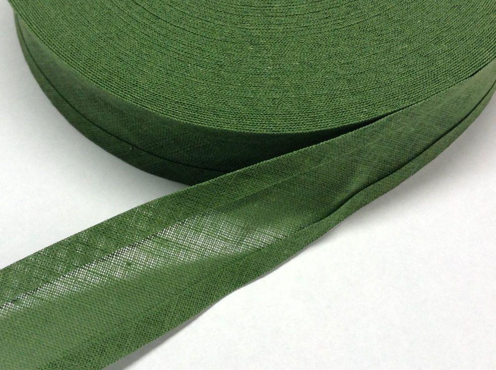 Sage Green Cotton Bias Binding Tape 25mm