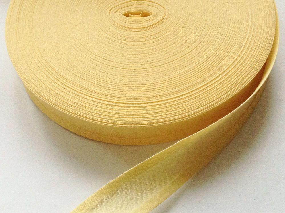 yellow bias binding tape 25mm wide - primrose