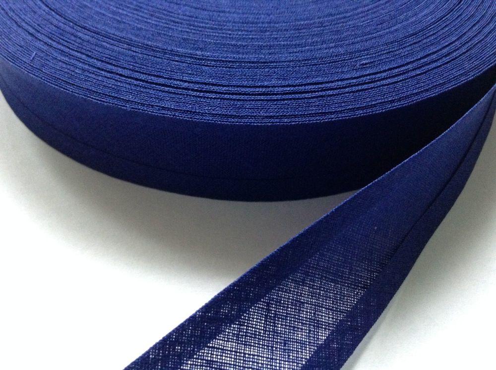 25mm wide royal blue trimming tape 50 metre reel