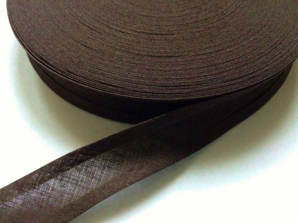 Dark Brown Bias Tape - 40 Metre Reel