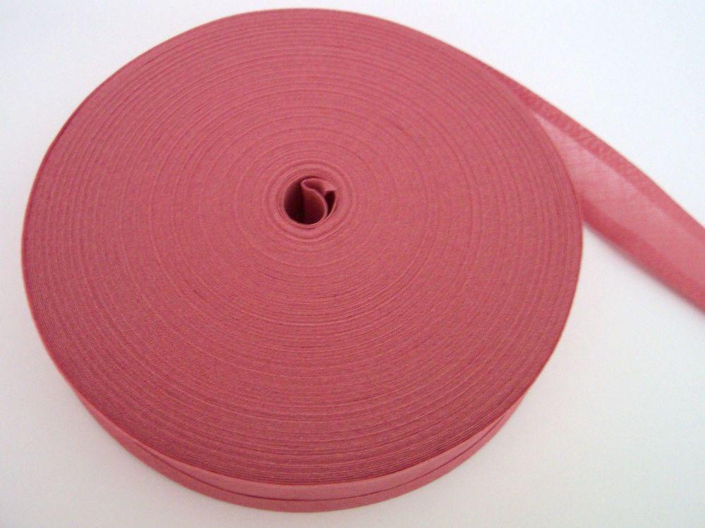 Dusky Pink Cotton Bias 50 metre Reel