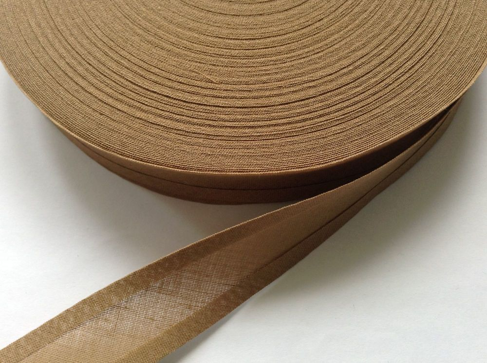 light brown trimming tape - 50 metre reel