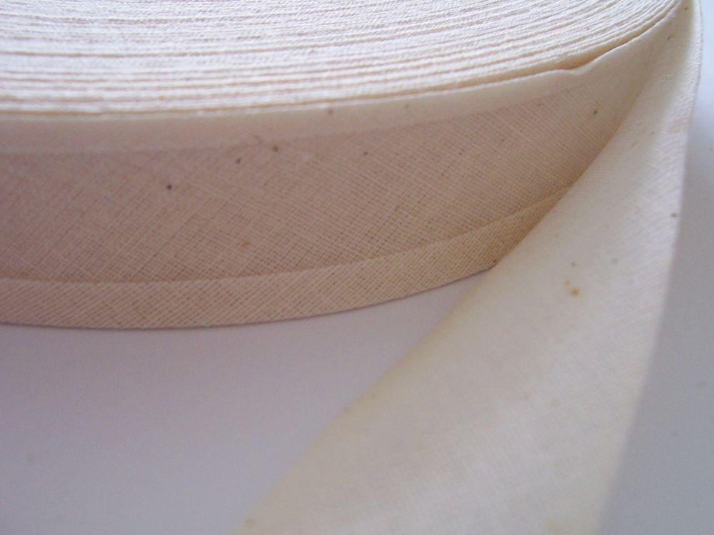 Natural Cotton Bias Binding - 50 Metre Reel