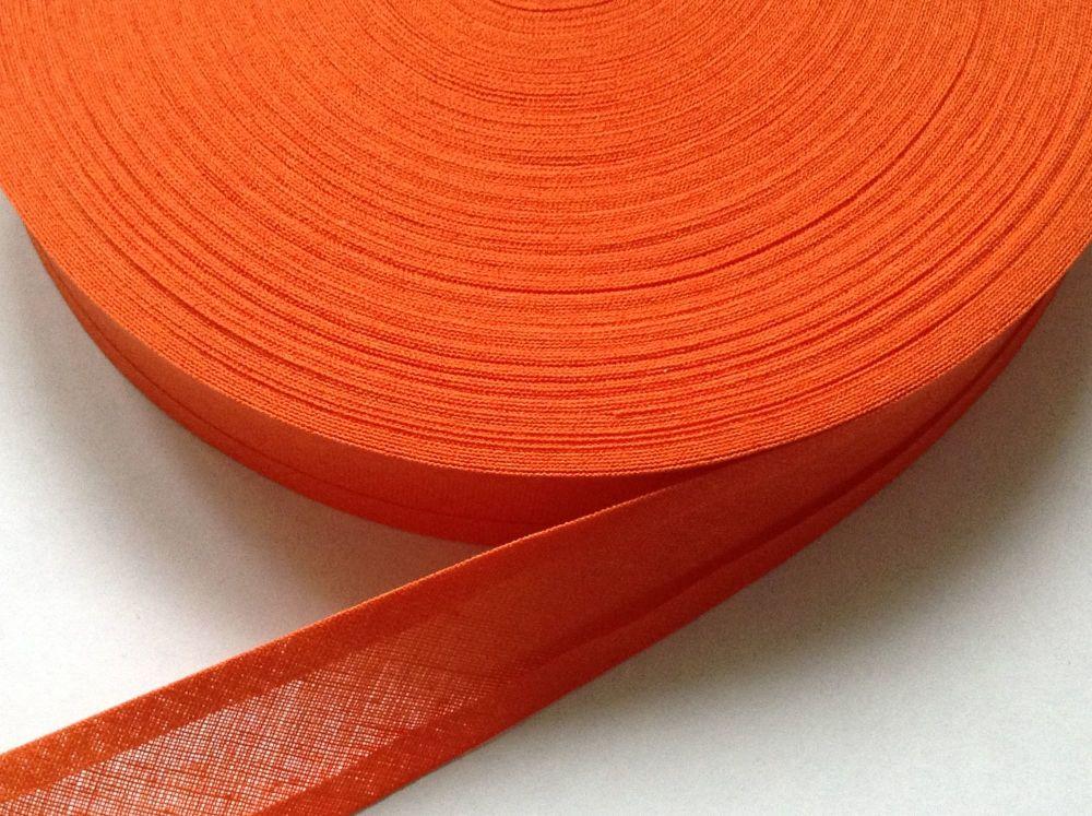 Orange Bias Binding - 50 Metre Reel