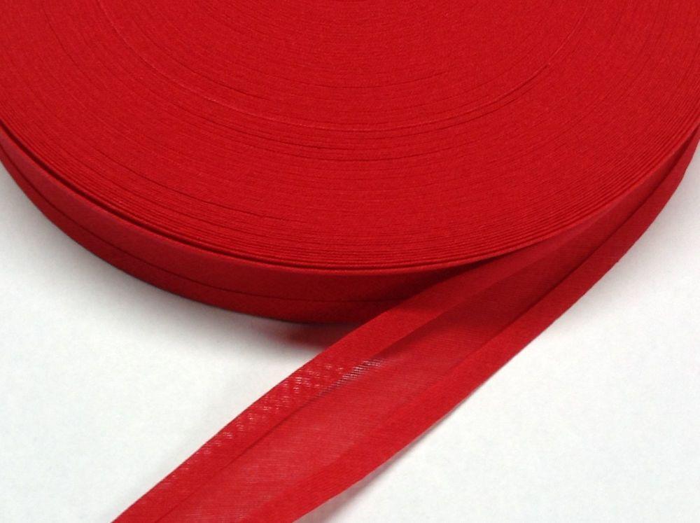 poppy red trimming tape - 50 metre reel