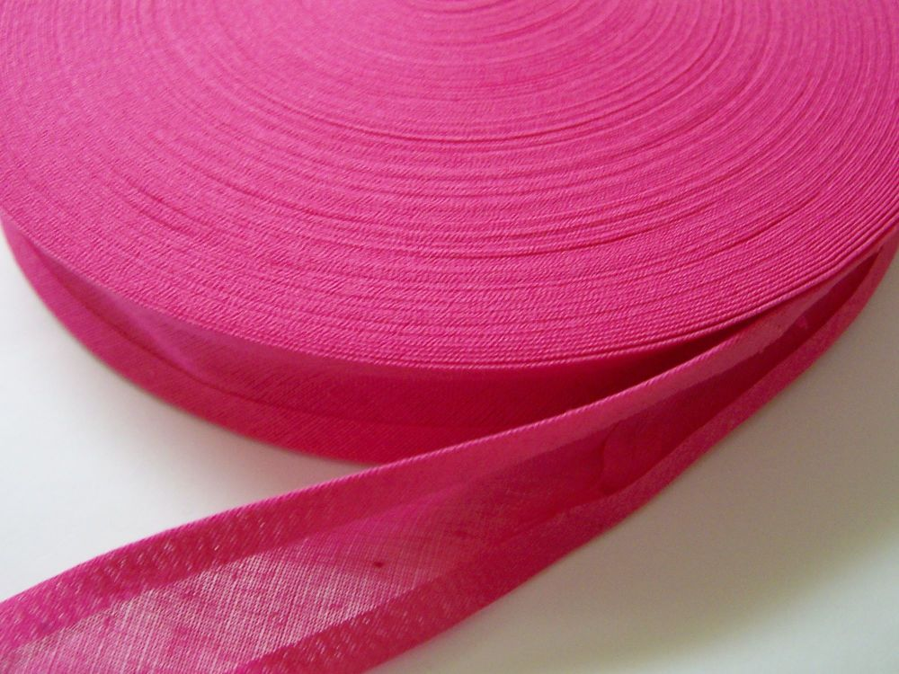 Shocking Pink Cotton Bias - 50 Metre Reel