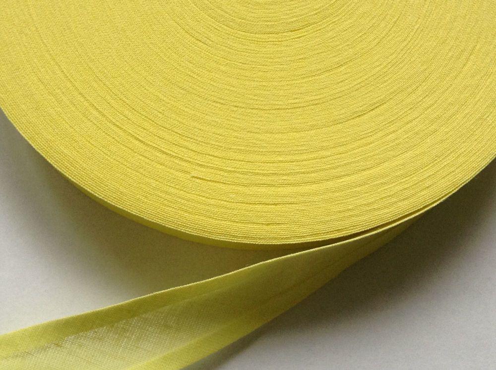 Yellow Cotton Bias - 50 Metre Reel