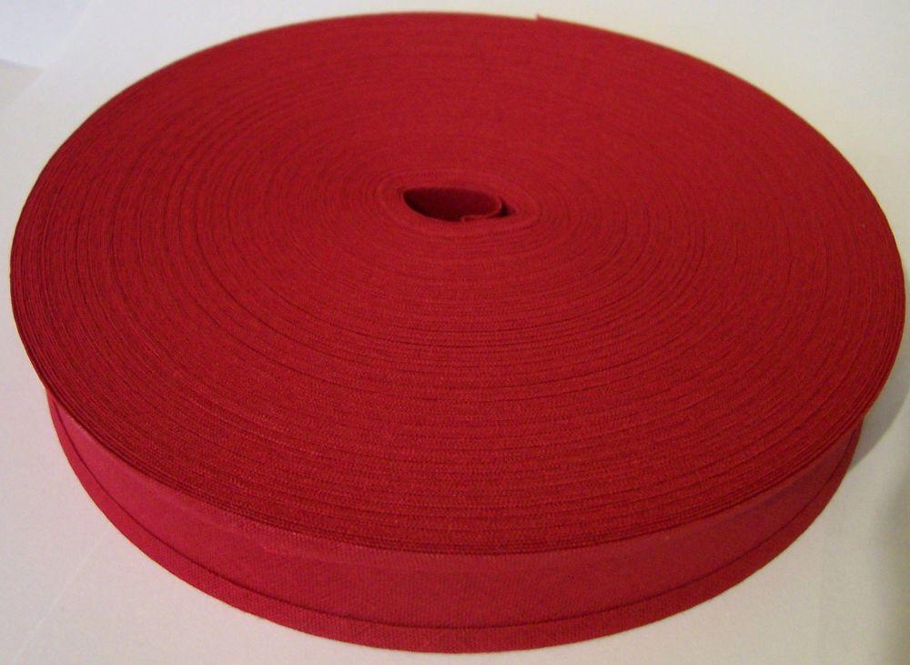 cherry red cotton bias tape