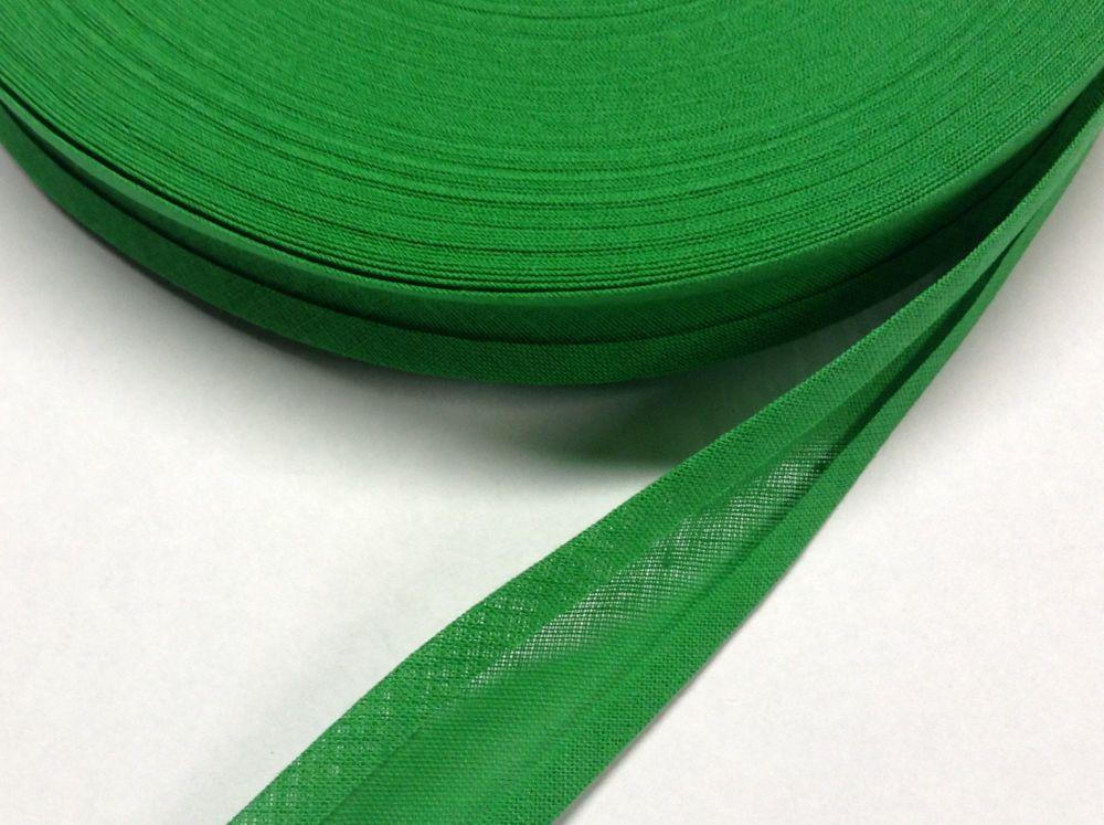 25mm Wide Bias Binding Ribbon 100% Cotton Sold By Metre Fern Green
