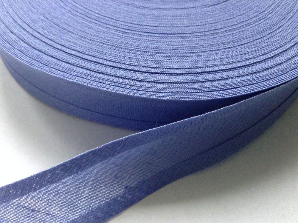 25mm Wide Lilac Cotton Bias - Lavender Trimming Tape