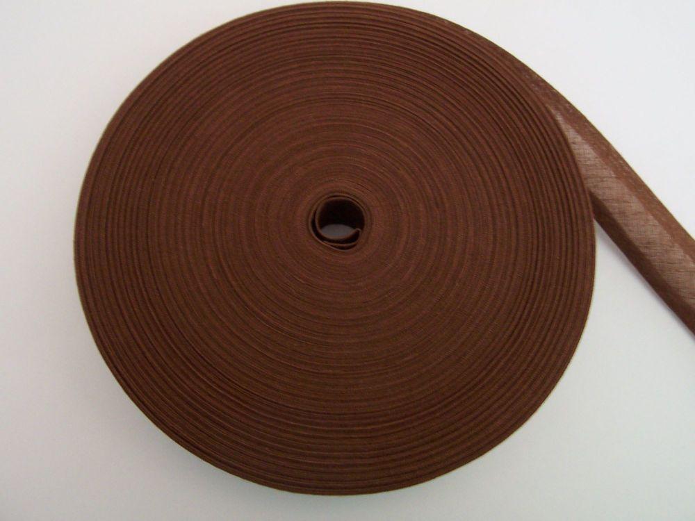 brown bias binding per metre length