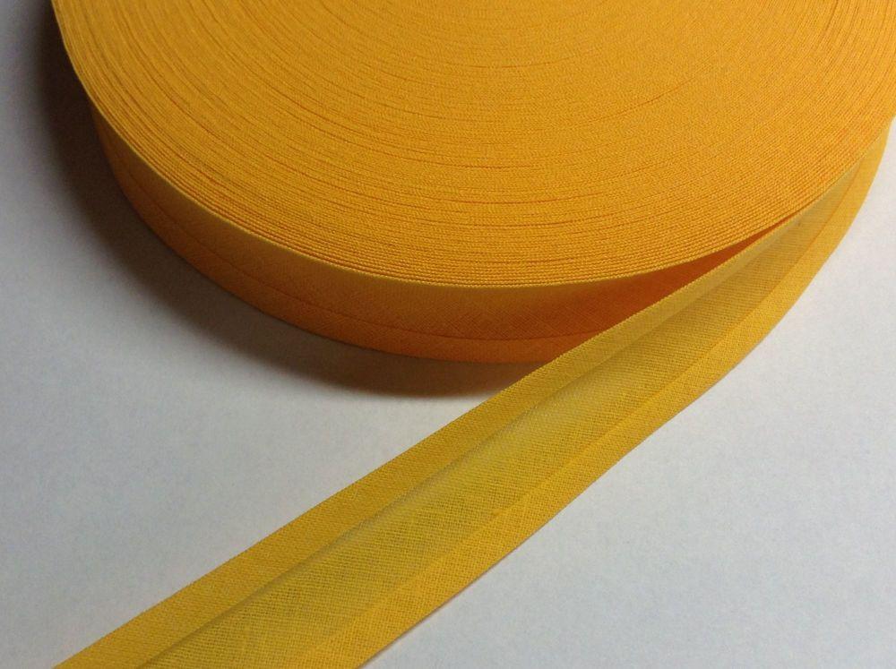 sunflower yellow bias binding per metre length