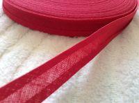 15mm wide cherry red bias binding 100% cotton