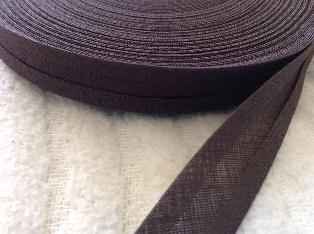 15mm wide dark brown sewing tape