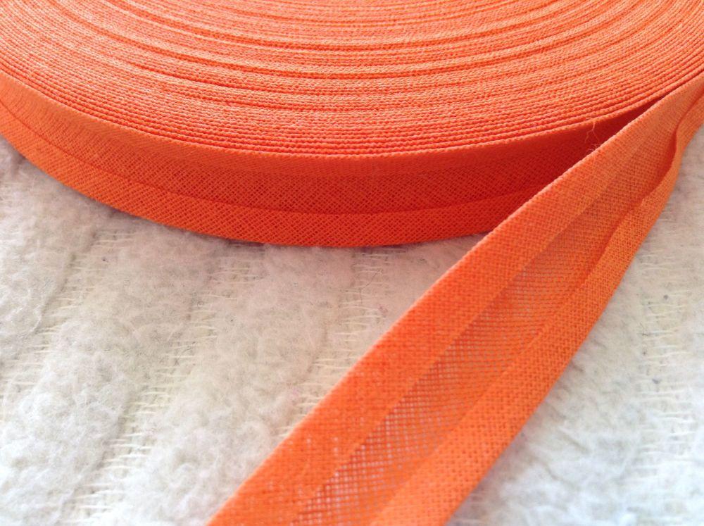 15mm wide orange bias binding