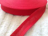 15mm wide poppy red bias binding 100% cotton